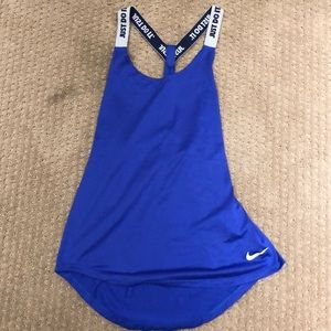 Blue nike tank top with just do it straps